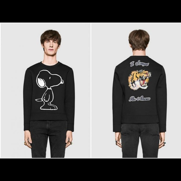 6e11566ae93 new snoopy gucci sweater for men